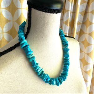Handmade howlite (faux turquoise) necklace